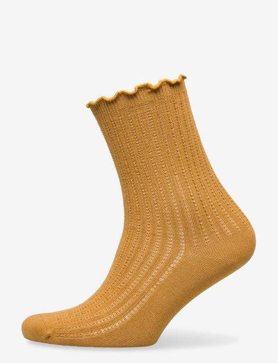 Olga Crochet Sock - almindelige strømper - warm sand