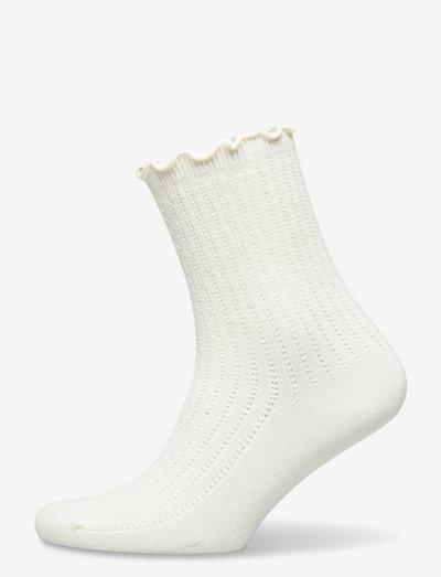 Olga Crochet Sock - almindelige strømper - white