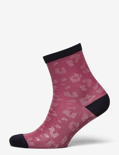 Leo Glitzi Sock - almindelige strømper - deco rose