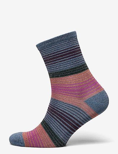 Imma Thin Stripe Sock - almindelige strømper - provincial blue