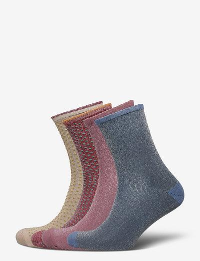 Mix Sock Pack W.10 - almindelige strømper - mauve/planta/blue/violet
