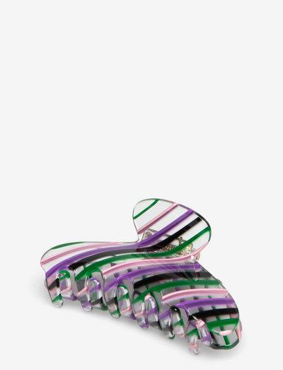 Candy Striped Hairclaw - hårspænder - multi col.