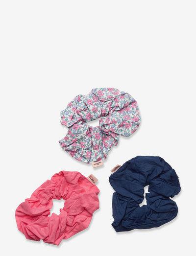 3-pack Mylo Scrunchie - scrunchies - floral/pink/maritime blue