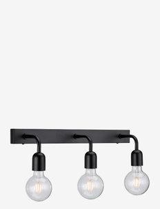 Wall lamp Regal 3 lamps fixed installation - vegglamper - flat black