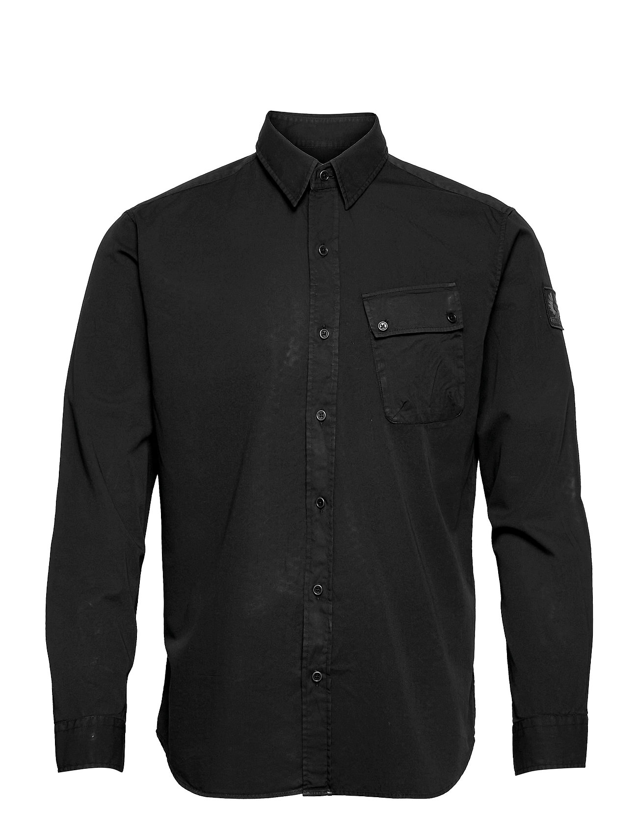 Pitch Twill Shirt Skjorte Casual Sort Belstaff