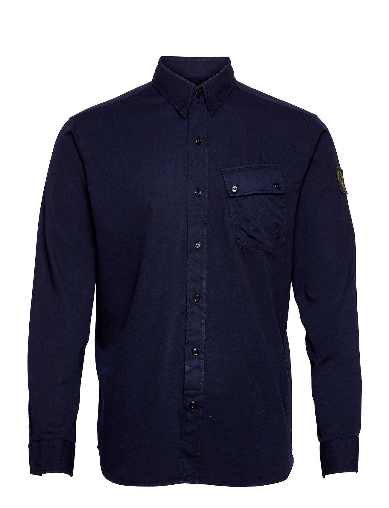 Pitch Twill Shirt Skjorte Casual Blå Belstaff