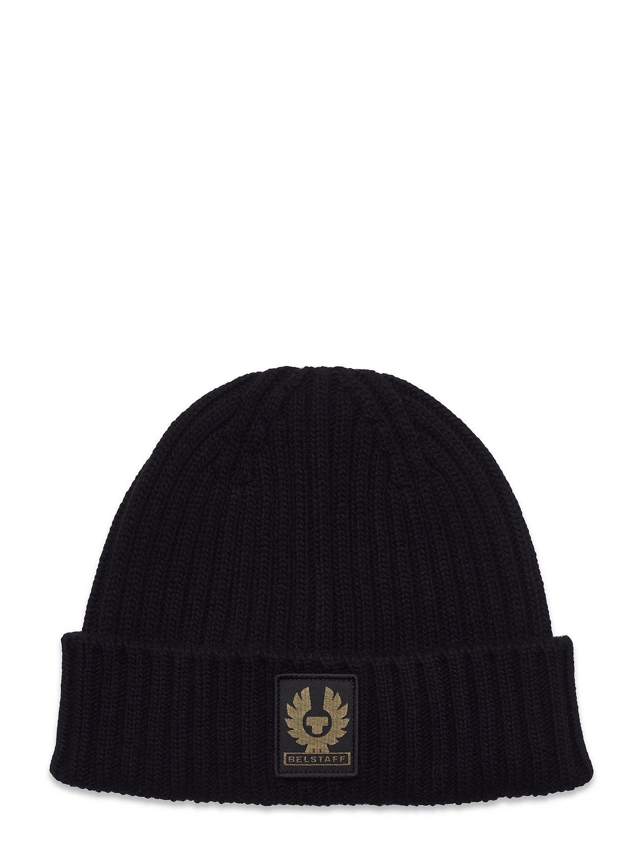 Watch Hat W/Patch Accessories Headwear Beanies Sort Belstaff