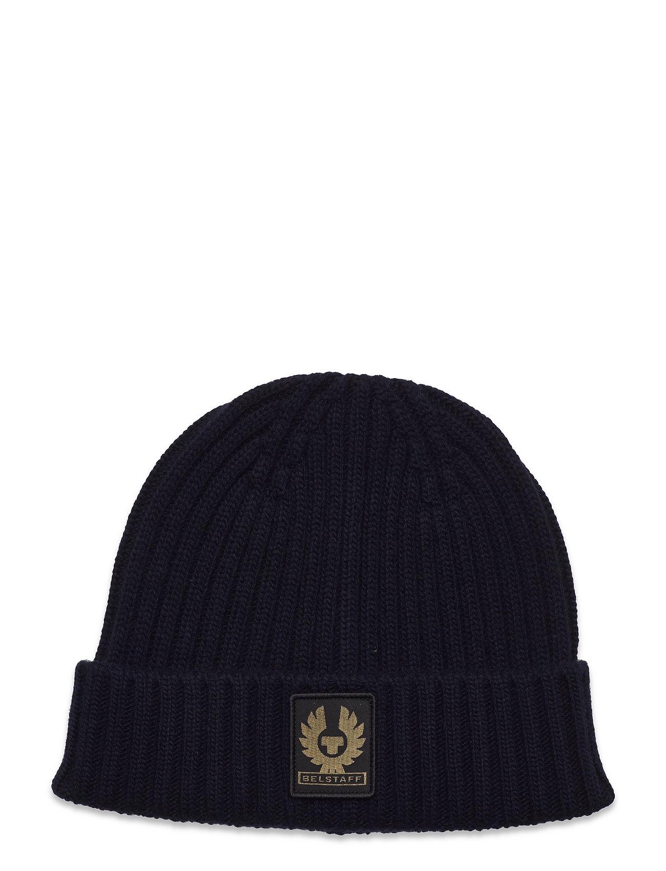Watch Hat W/Patch Accessories Headwear Beanies Blå Belstaff