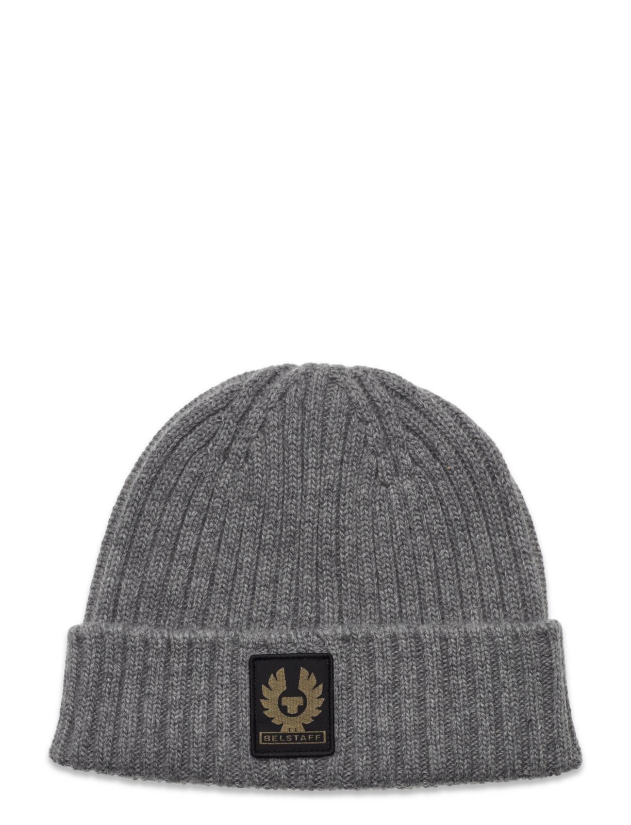 Watch Hat W/Patch Accessories Headwear Beanies Grå Belstaff