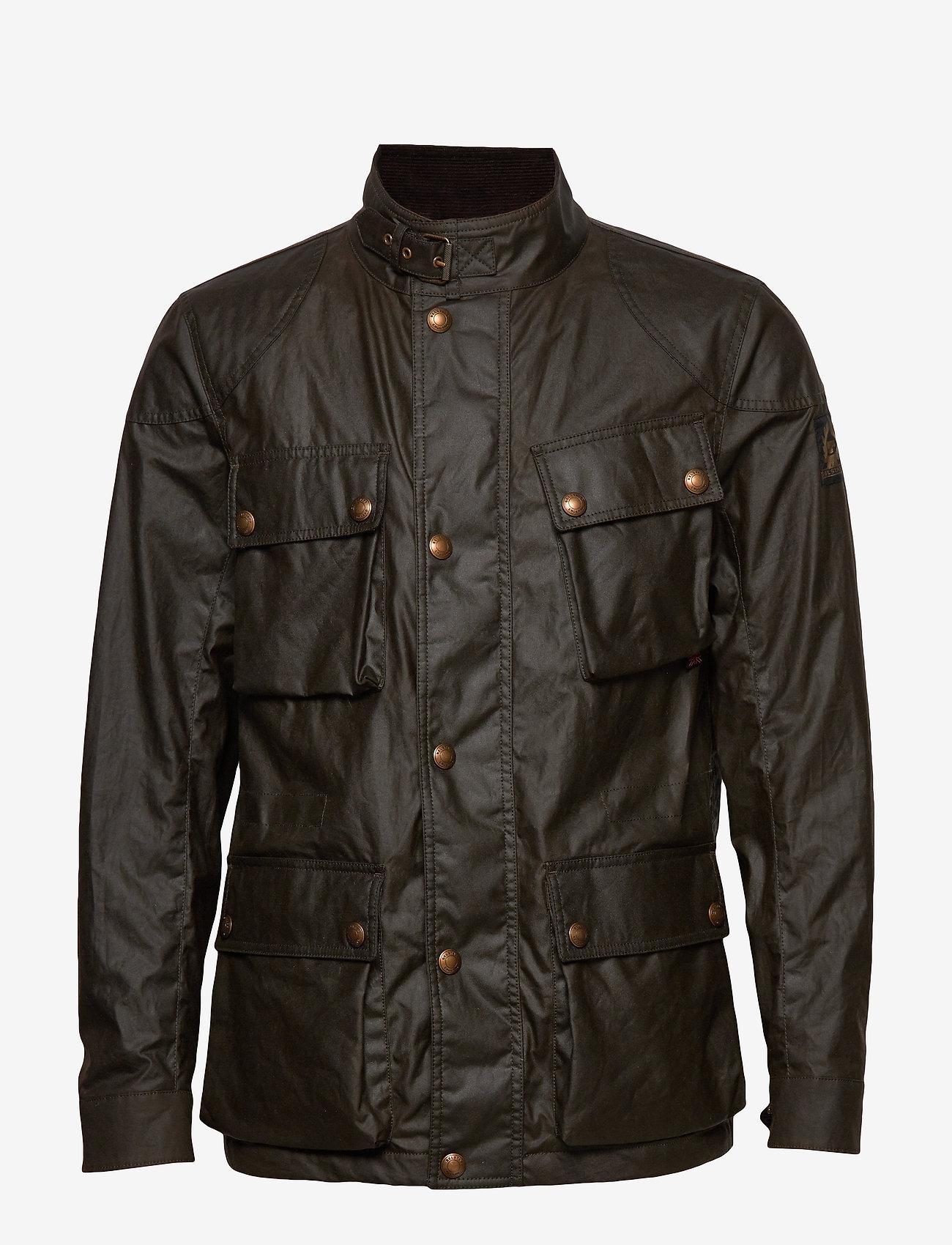 Refinería Tremendo Existencia  Fieldmaster Jacket (Faded Olive) (£450) - Belstaff -   Boozt.com