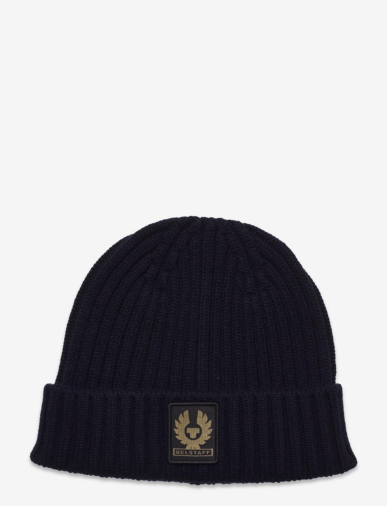 Belstaff - WATCH HAT W/PATCH - bonnets & casquettes - dark navy - 0