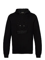 EMBROIDERY APPLIQUE HOODIE - BLACK