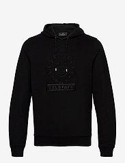 Belstaff - EMBROIDERY APPLIQUE HOODIE - hoodies - black - 0