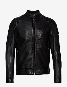 V RACER 2.0 JACKET - lederjacken - black