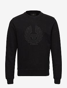 BELSTAFF PHOENIX APPLIQUE SWEATSHIRT - swetry - black