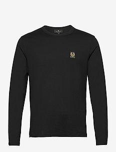 BELSTAFF L/S T-SHIRT - basis-t-skjorter - black