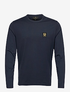BELSTAFF L/S T-SHIRT - basis-t-skjorter - navy