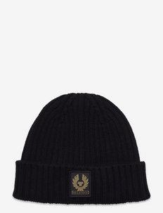 WATCH HAT W/PATCH - bonnets & casquettes - black