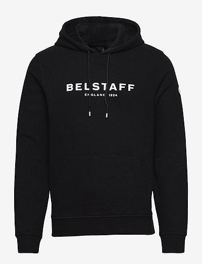 BELSTAFF 1924 PULLOVER - sweats à capuche - black/white