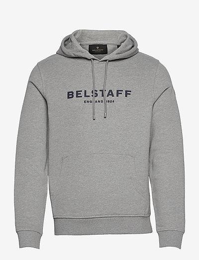 BELSTAFF 1924 PULLOVER - sweats à capuche - grey melange/dark navy