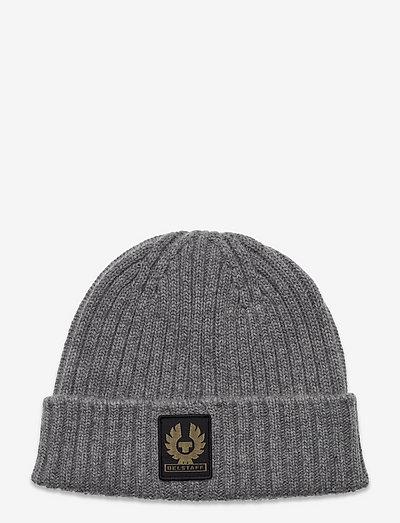 WATCH HAT W/PATCH - bonnets & casquettes - pale grey melange