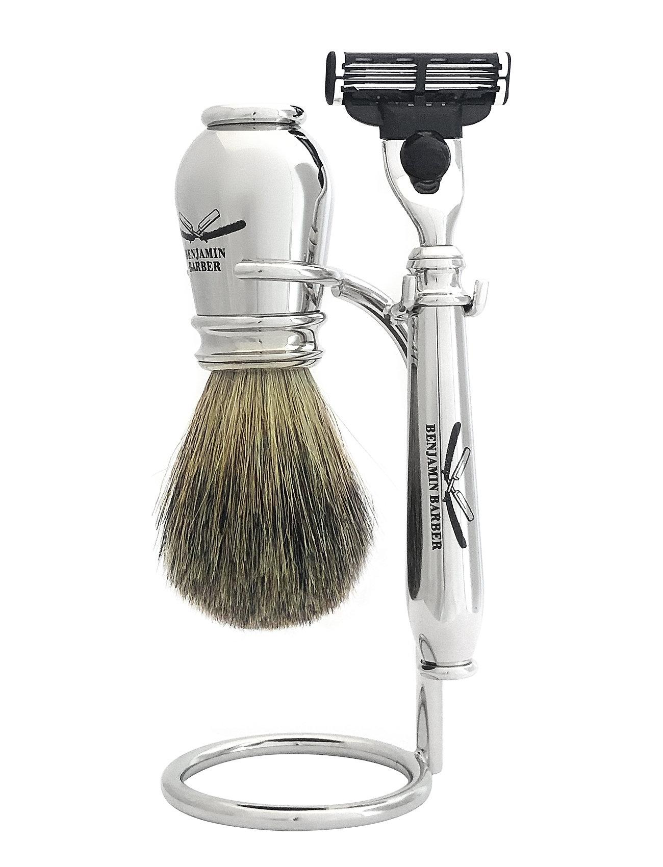 Benjamin Barber Benjamin Barber Nobel 3-piece shavingset - CHROME