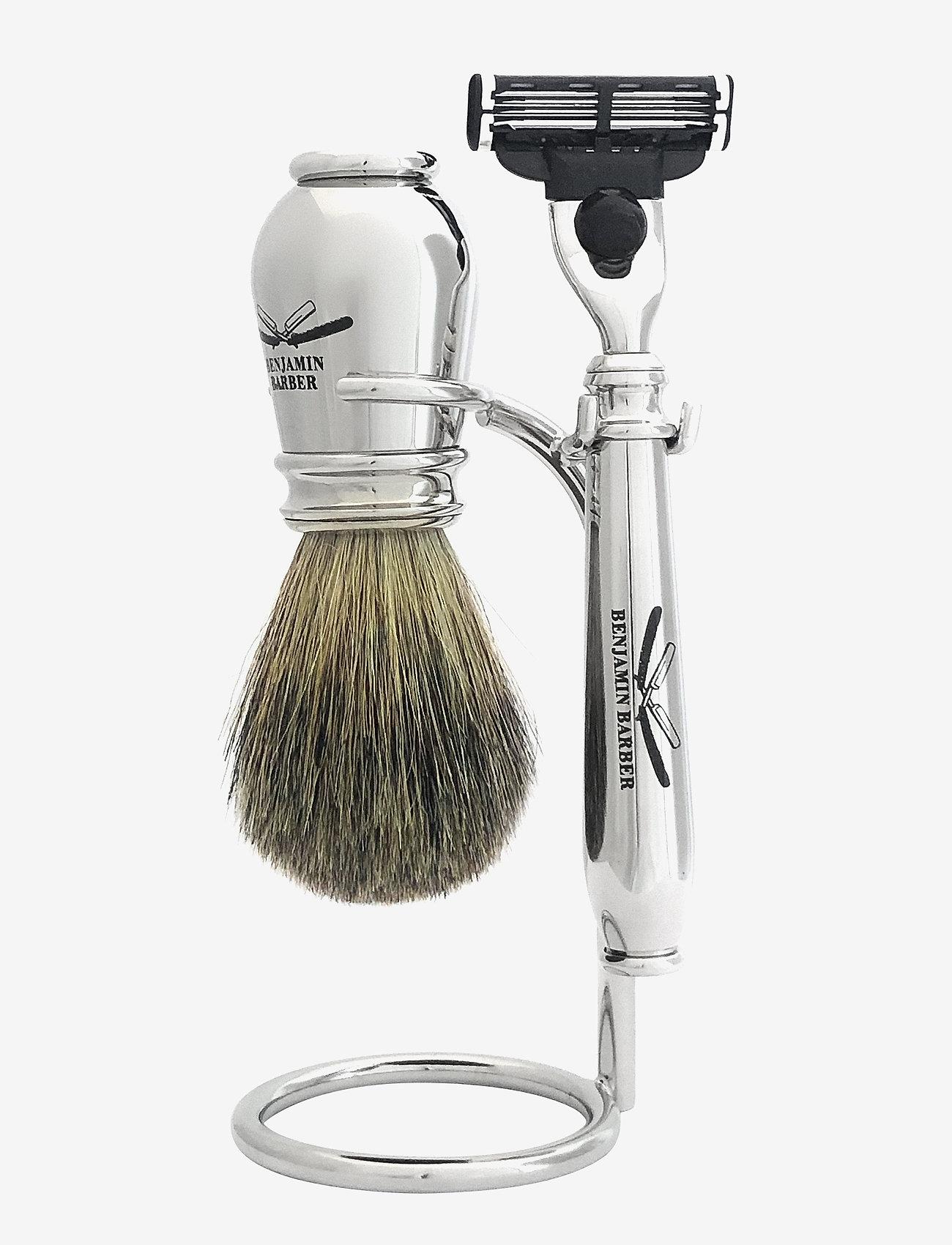 Benjamin Barber - Benjamin Barber Nobel 3-piece shavingset - parranajo - chrome
