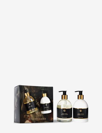 Benjamin Barber Gift Set Saffron & Leather Hand Duo - presentaskar - clear
