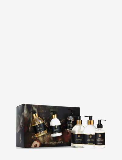 Benjamin Barber Gift Set Saffron & Leather Hand Trio - gavesæt - clear
