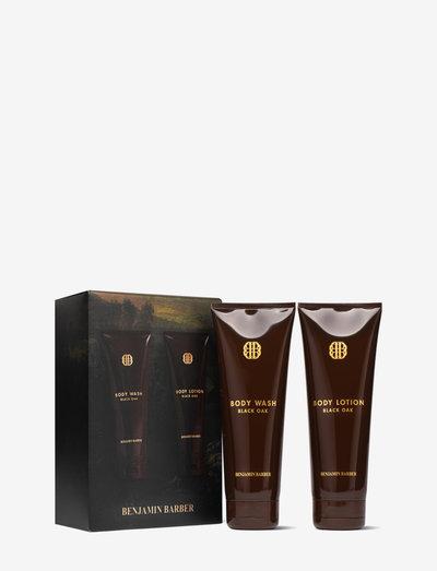 Benjamin Barber Gift Set Black Oak Body Duo - lahjapakkaukset - clear