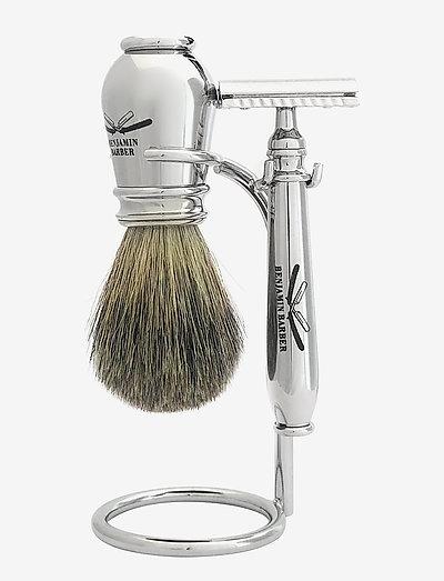 Benjamin Barber Nobel 3-piece shavingset - rakhyvel - chrome