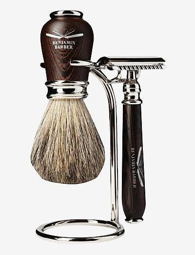 Benjamin Barber Nobel 3-piece shavingset - barberskraber - wenge
