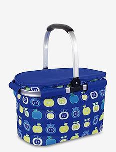 Cooler Basket blue printed - tilbehør til piknik - blue
