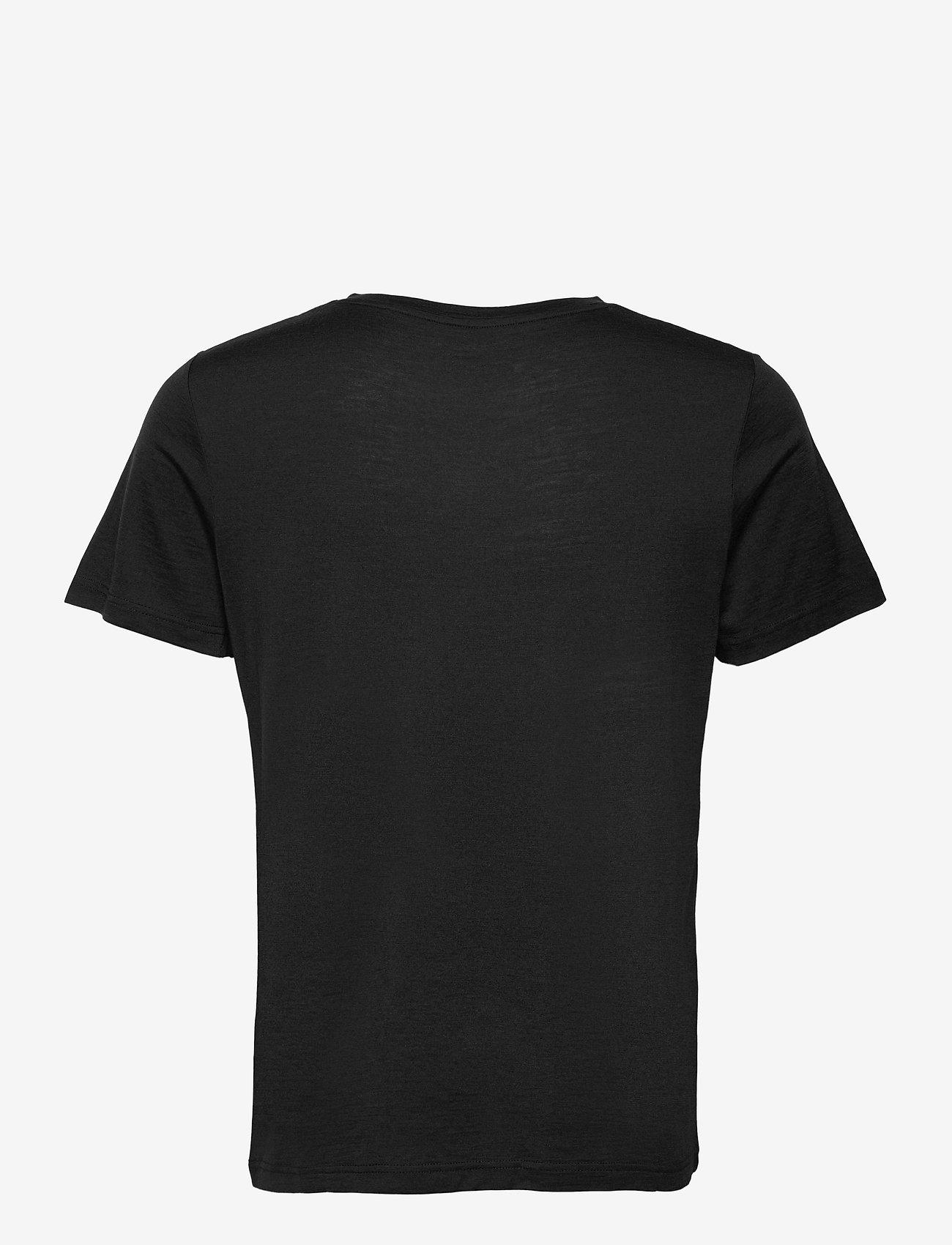 Bergans - Oslo Wool Tee - t-shirts - black - 1