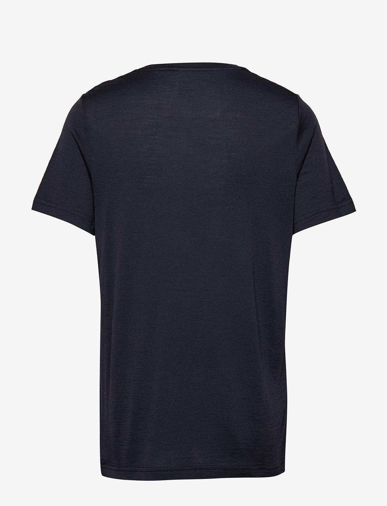 Bergans - Oslo Wool Tee - t-shirts - dark navy - 1