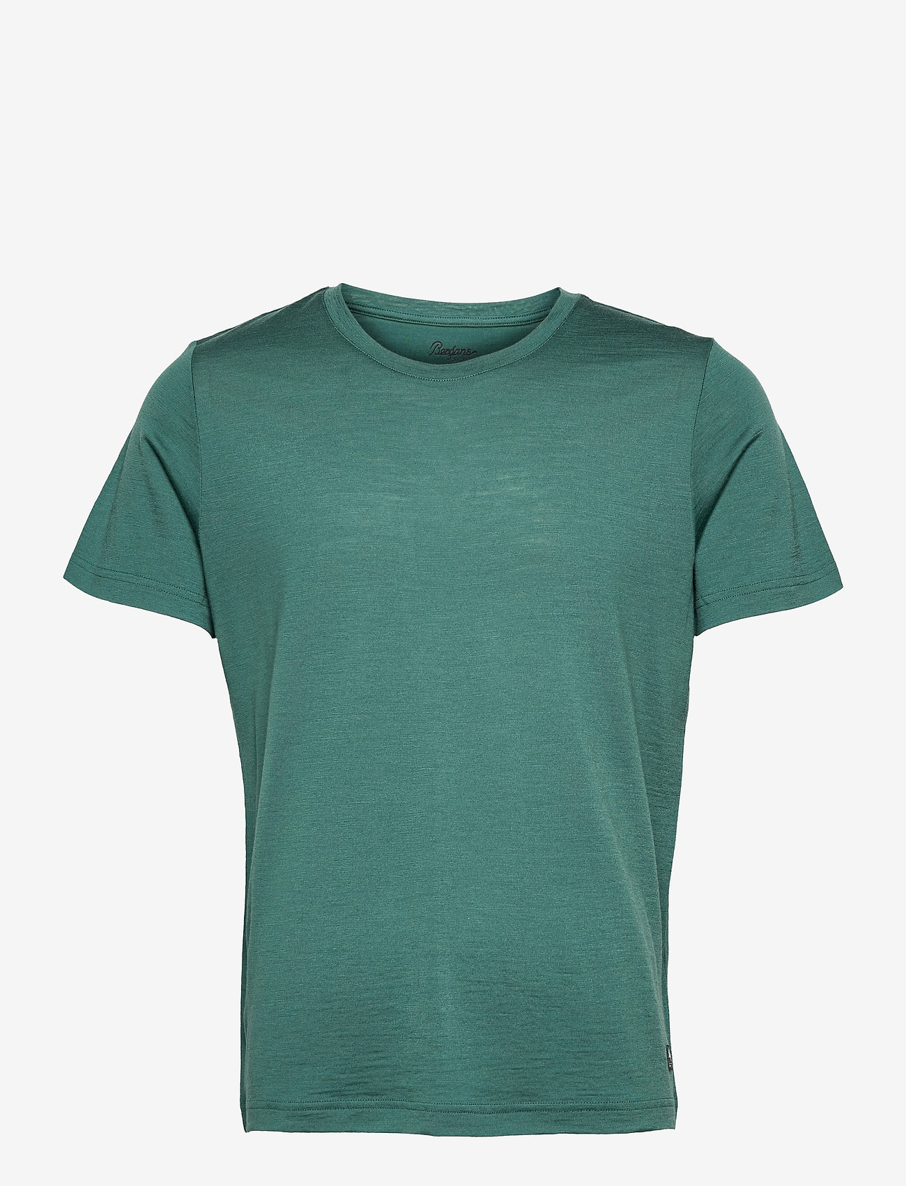 Bergans - Oslo Wool Tee - t-shirts - forest frost - 0