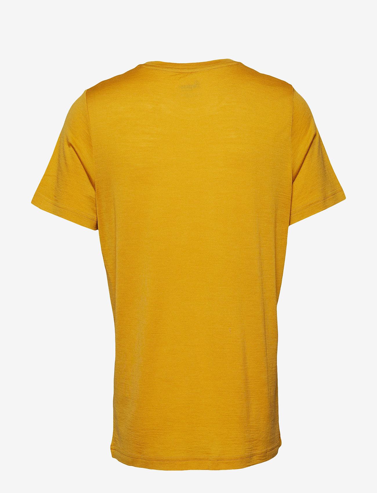 Bergans - Oslo Wool Tee - t-shirts - mustard yellow - 1