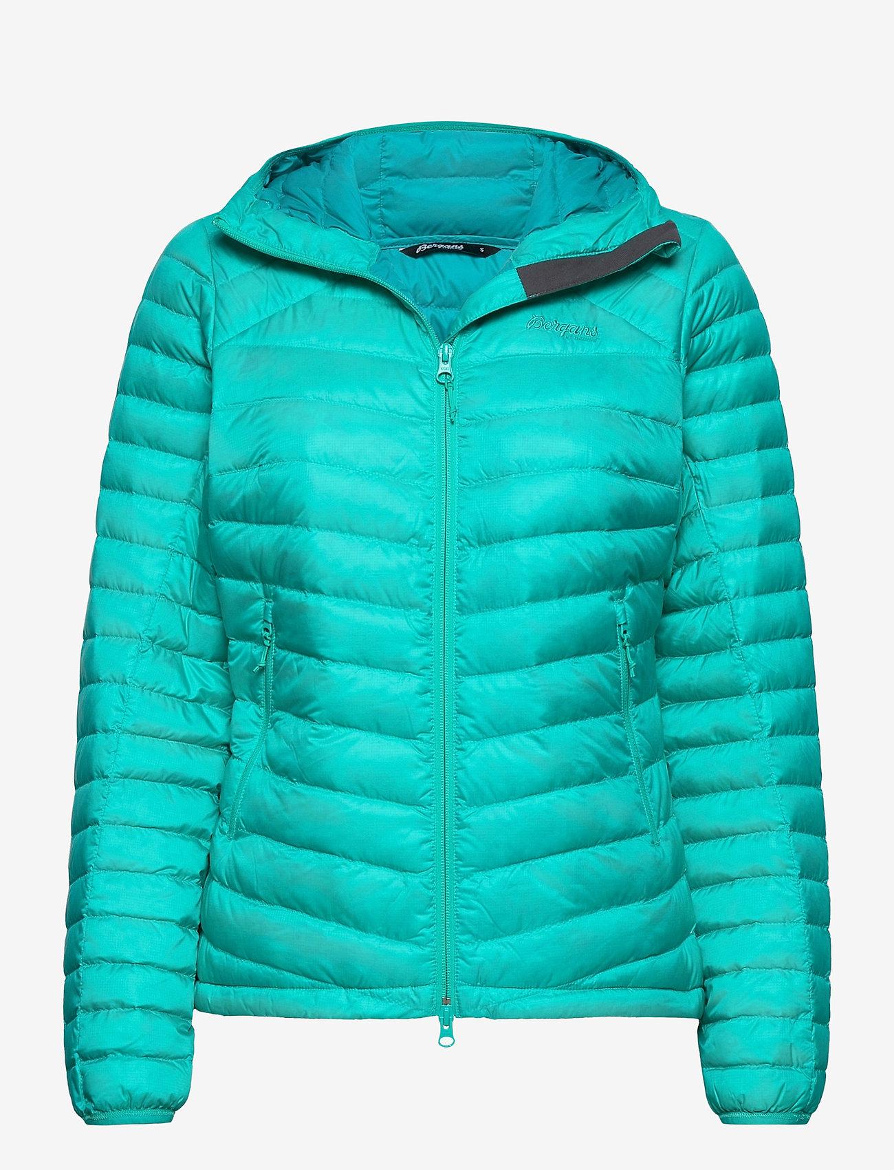 Bergans - Rros Down Light W Jkt w/Hood - wandel- en regenjassen - lt glacierlake/glacierlake - 0