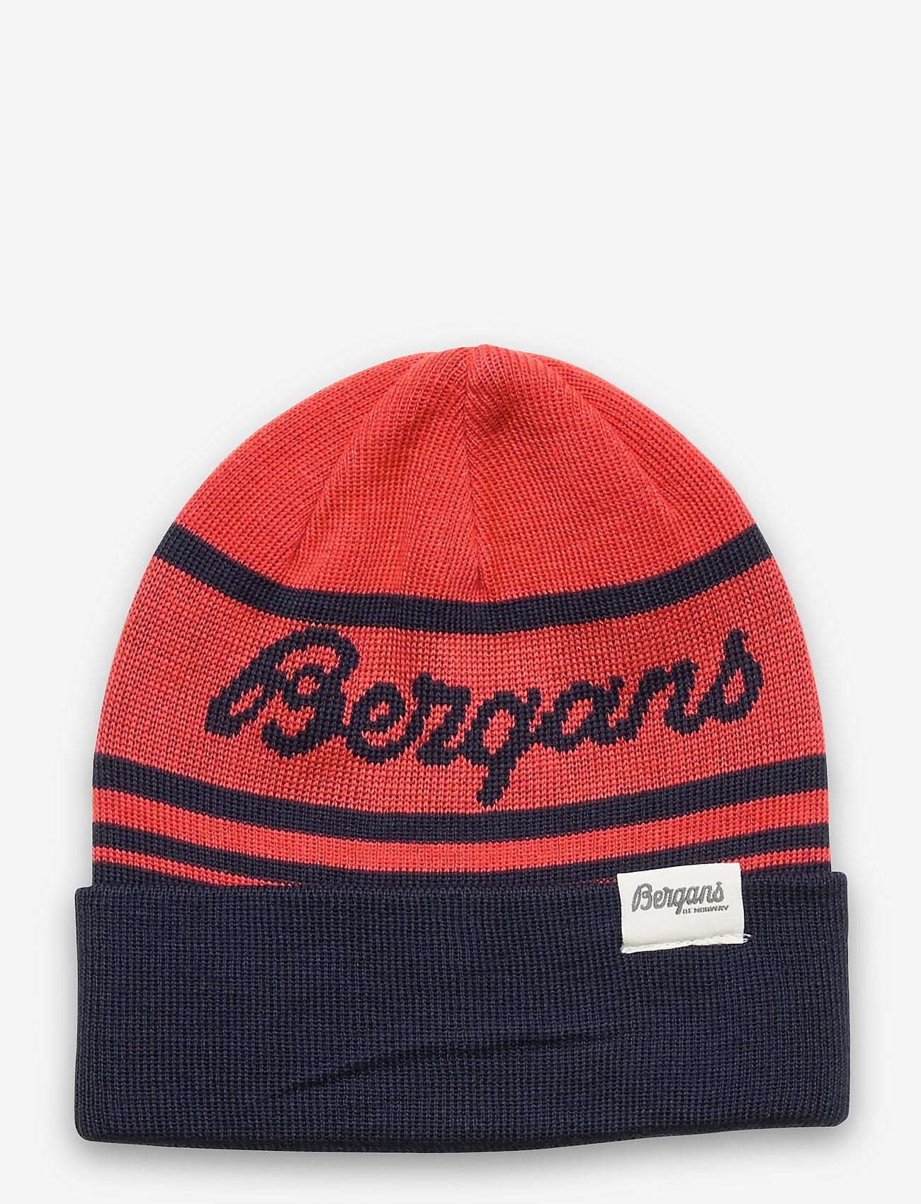 Bergans - Find My Kids Beanie - huer - navy/lt dahliared - 0