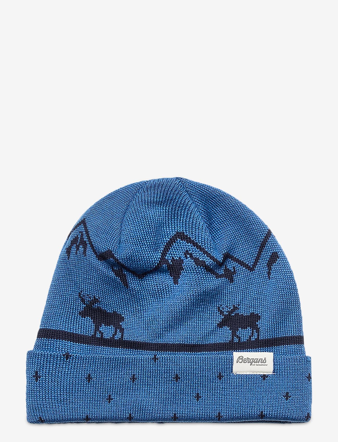 Bergans - Mountain Moose Kids Beanie - huer - strongblue/navy - 0