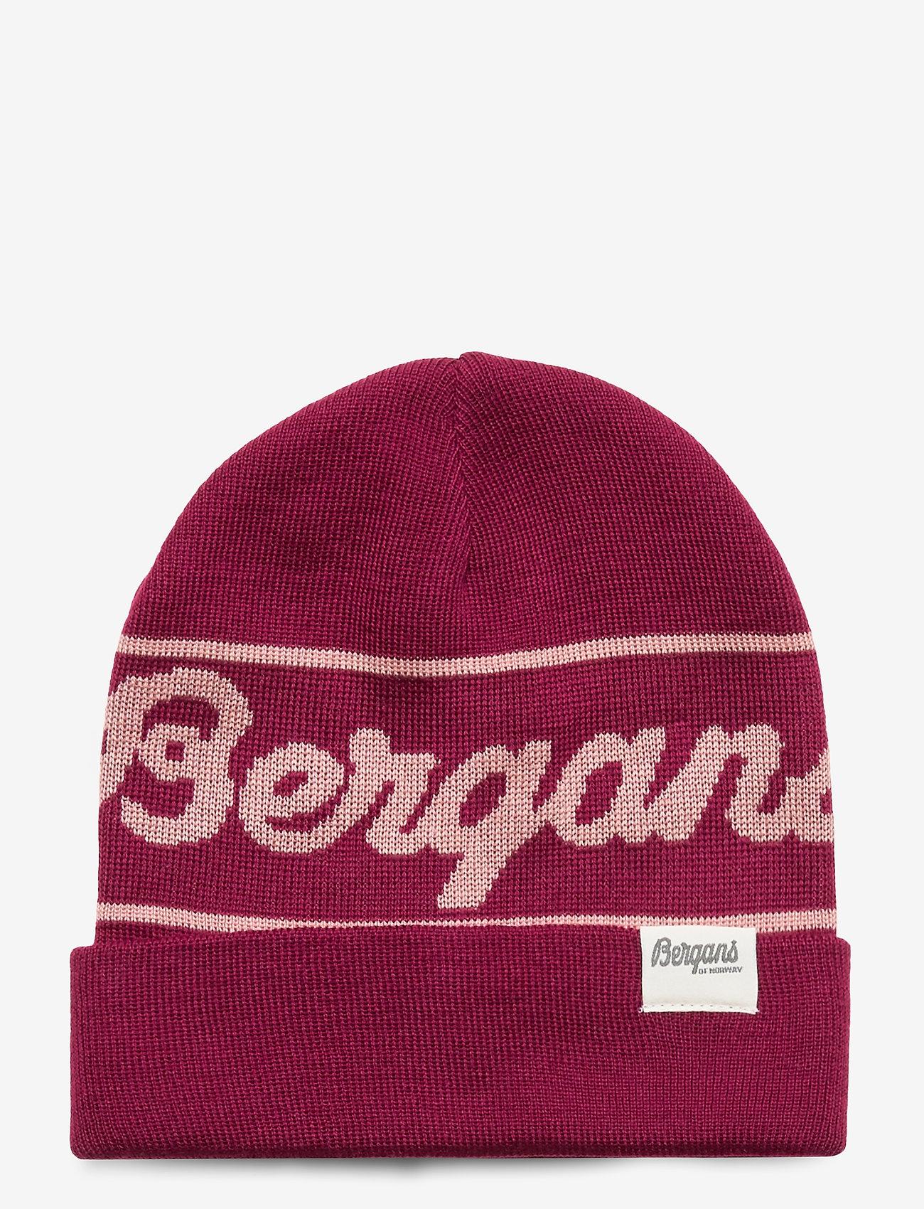 Bergans - Bergans Logo Youth Beanie - huer - beetred/pastelpink - 0