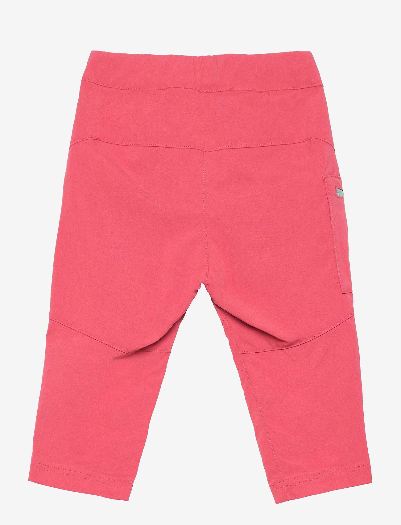 Bergans - Lilletind V2 Light Softshell Kids Pants - broeken - creamy rouge/misty forest - 1
