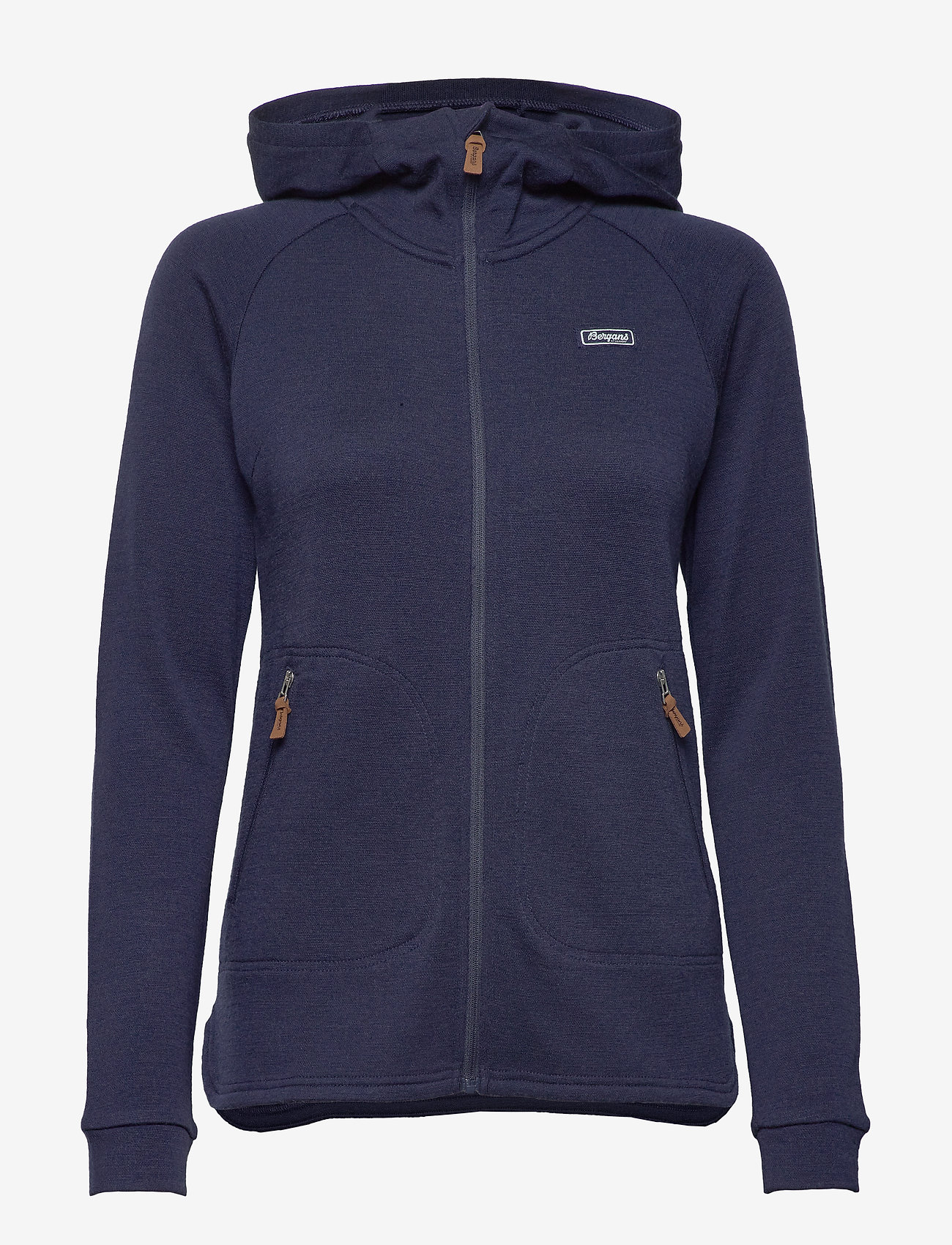 Bergans - Tuva Light Wool Hood W Jkt - fleece - navy - 1
