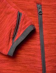 Bergans - Hareid Fleece W Jkt - fleece midlayer - red mel/soliddkgrey - 4