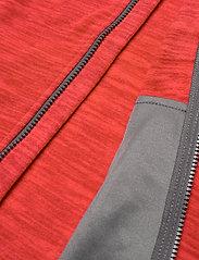 Bergans - Hareid Fleece W Jkt - fleece midlayer - red mel/soliddkgrey - 5