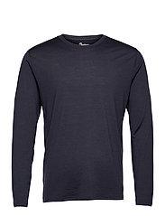 Oslo Wool Long Sleeve - DARK NAVY