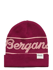 Bergans Logo Youth Beanie - BEETRED/PASTELPINK