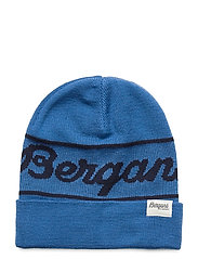Bergans Logo Youth Beanie - STRONG BLUE / NAVY