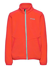 Lilletind Fleece Kids Jkt - LT DAHLIARED/LT GREENLAKE