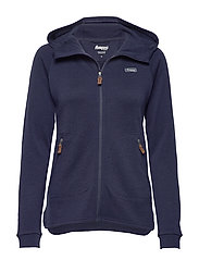 Tuva Light Wool Hood W Jkt - NAVY